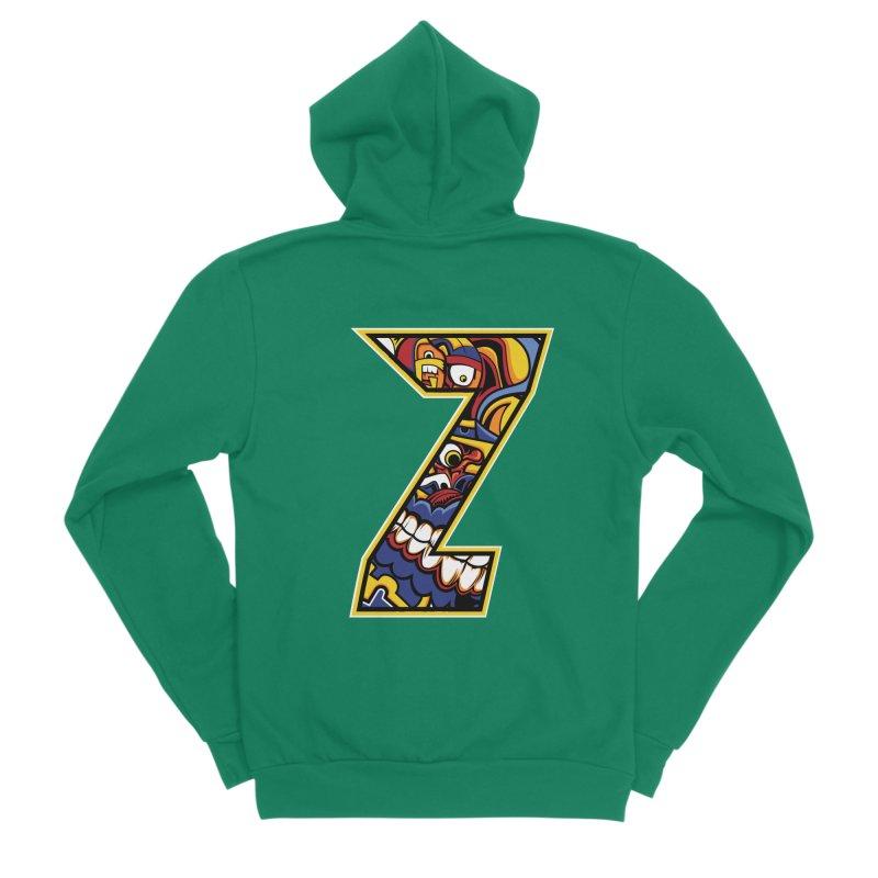 Crazy Face_Z004 Women's Sponge Fleece Zip-Up Hoody by Art of Yaky Artist Shop