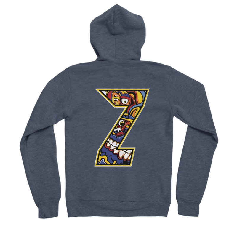 Crazy Face_Z004 Women's Sponge Fleece Zip-Up Hoody by Art of Yaky Artist Shop