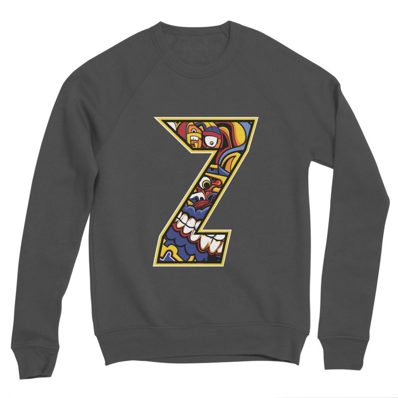 Crazy Face_Z004 Men's Sponge Fleece Sweatshirt by Art of Yaky Artist Shop