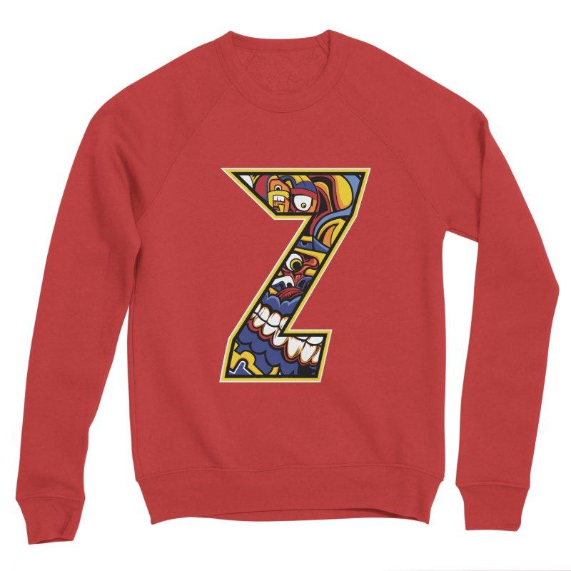 Crazy Face Aplphabet (Z) Men's Sweatshirt by Yaky's Customs