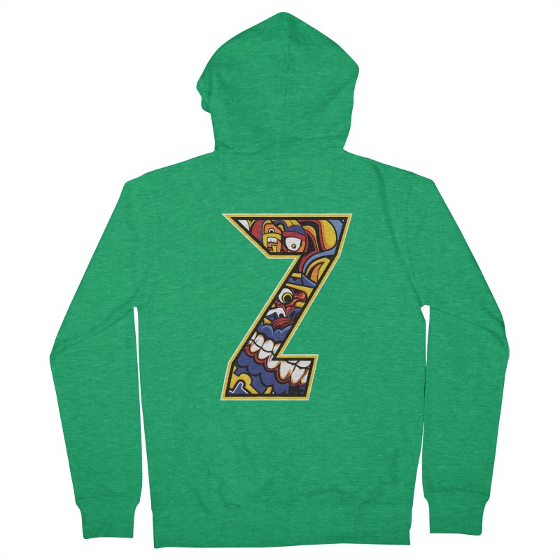 Crazy Face_Z004 Men's Zip-Up Hoody by Art of Yaky Artist Shop