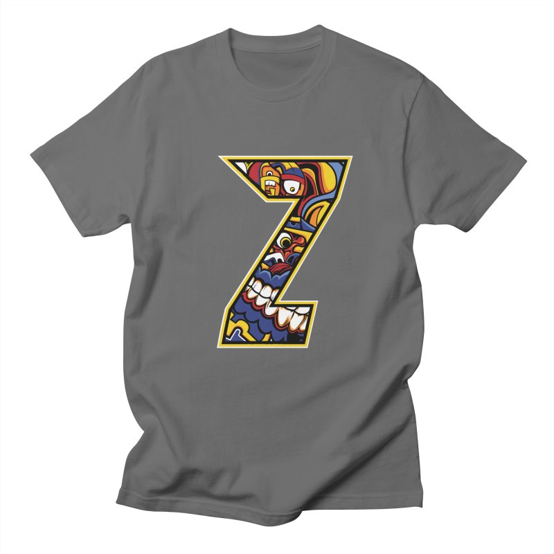 Crazy Face_Z004 Men's T-Shirt by Art of Yaky Artist Shop