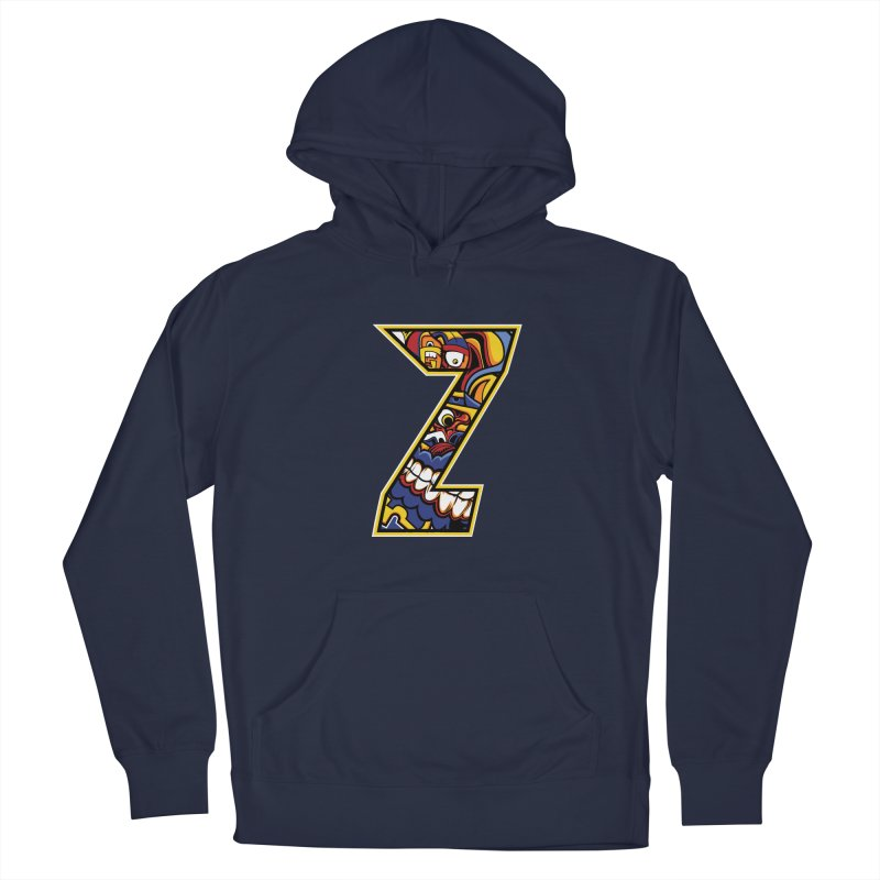 Crazy Face Aplphabet (Z) Men's Pullover Hoody by Yaky's Customs