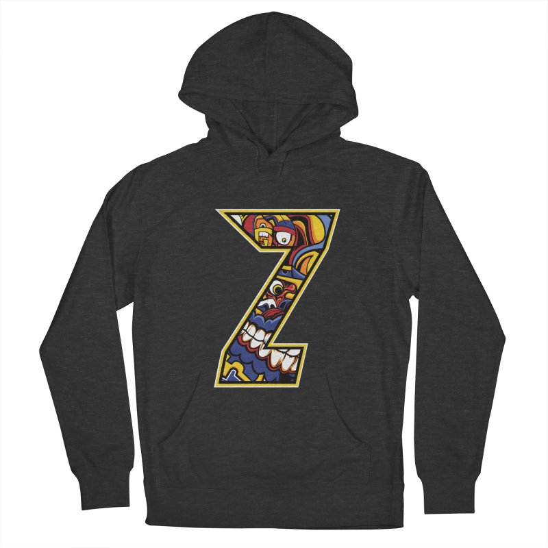 Crazy Face_Z004 Women's French Terry Pullover Hoody by Art of Yaky Artist Shop