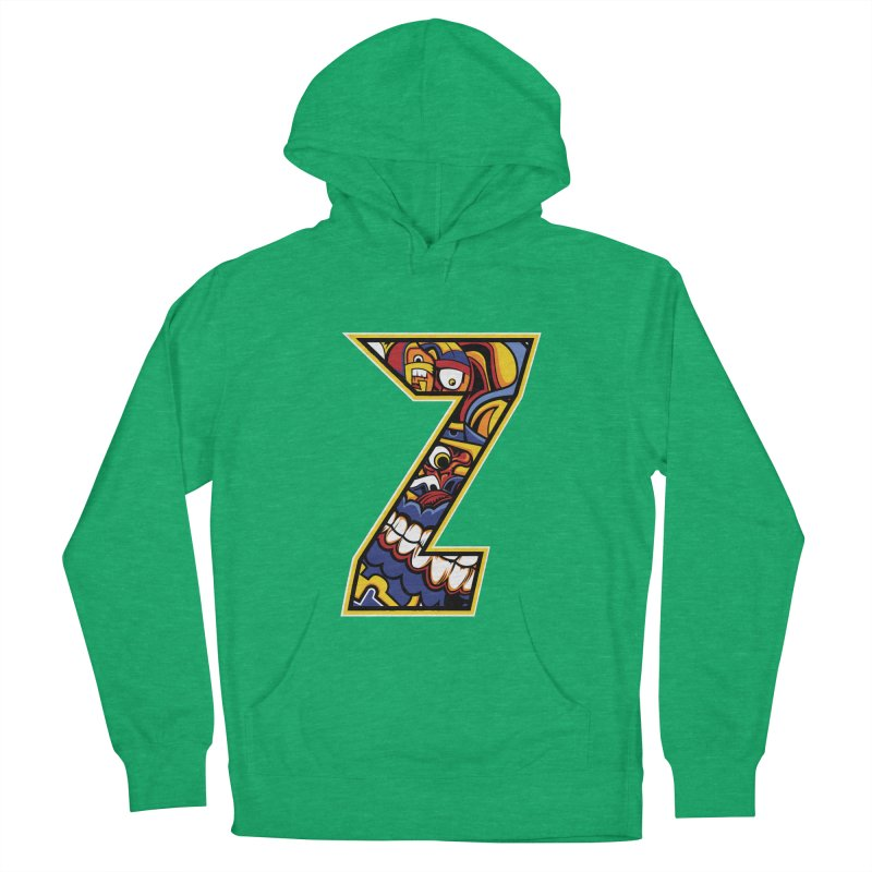 Crazy Face_Z004 Men's French Terry Pullover Hoody by Art of Yaky Artist Shop