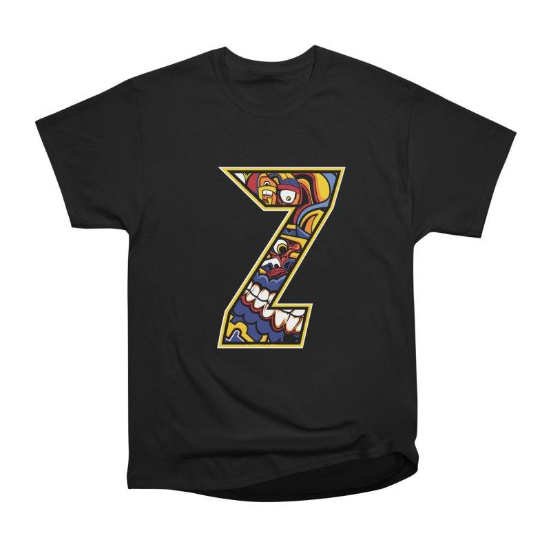 Crazy Face_Z004 Women's Heavyweight Unisex T-Shirt by Art of Yaky Artist Shop