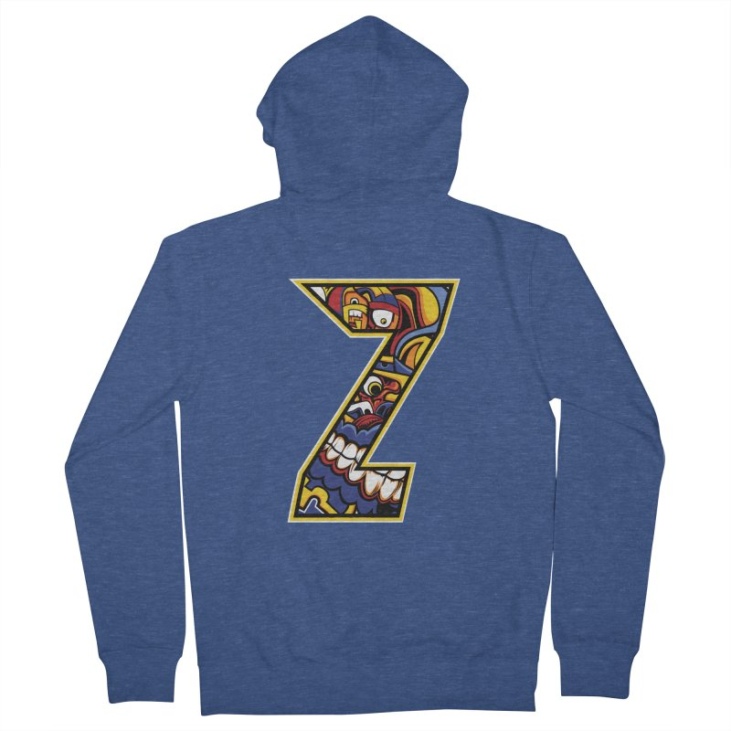 Crazy Face_Z004 Women's Zip-Up Hoody by Art of Yaky Artist Shop