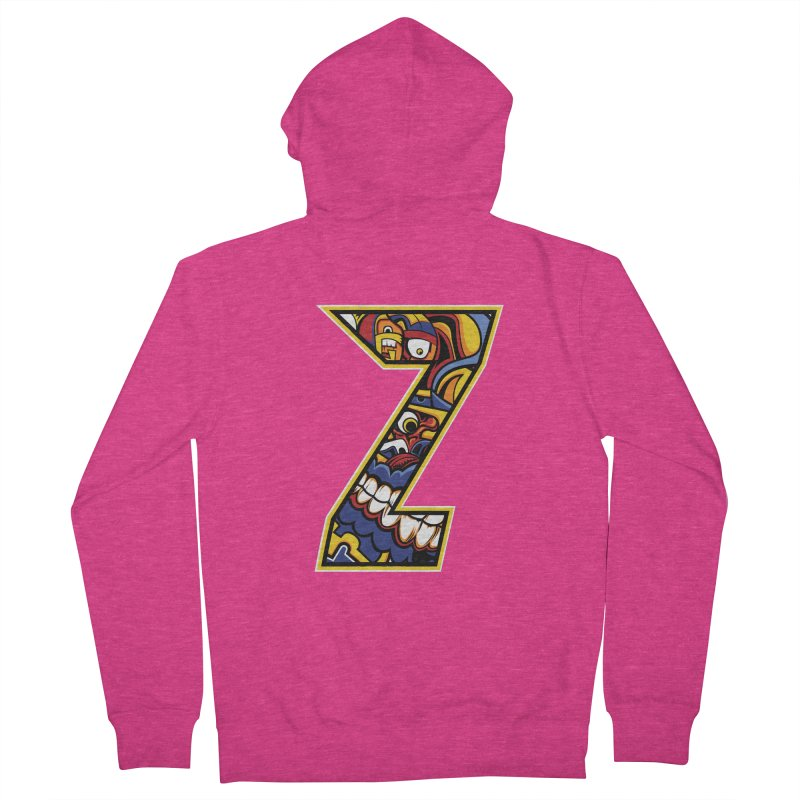 Crazy Face Aplphabet (Z) Women's Zip-Up Hoody by Yaky's Customs