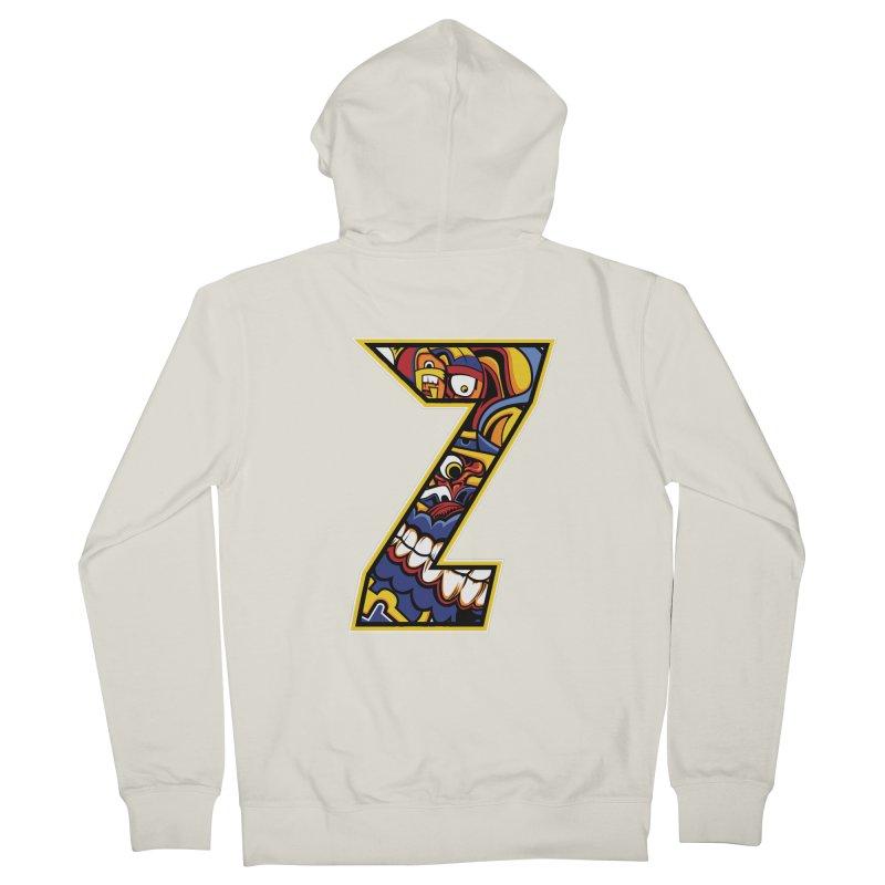 Crazy Face Aplphabet (Z) Women's Zip-Up Hoody by Yaky's Customs