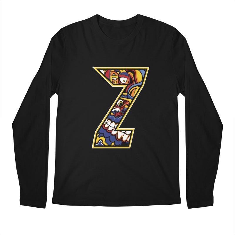 Crazy Face_Z004 Men's Regular Longsleeve T-Shirt by Art of Yaky Artist Shop