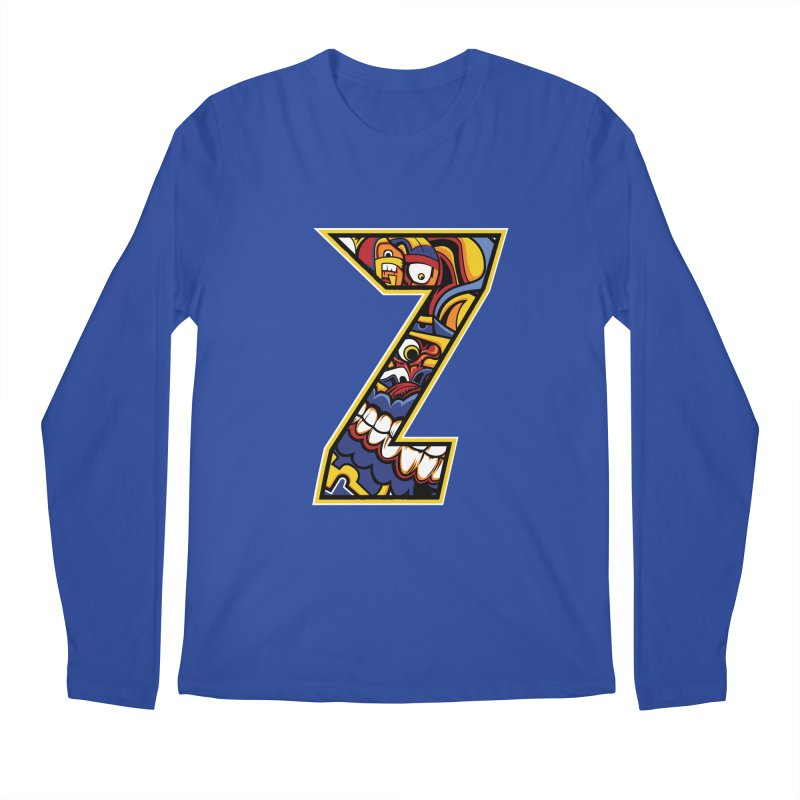 Crazy Face_Z004 Men's Regular Longsleeve T-Shirt by Art of Yaky Artist Shop