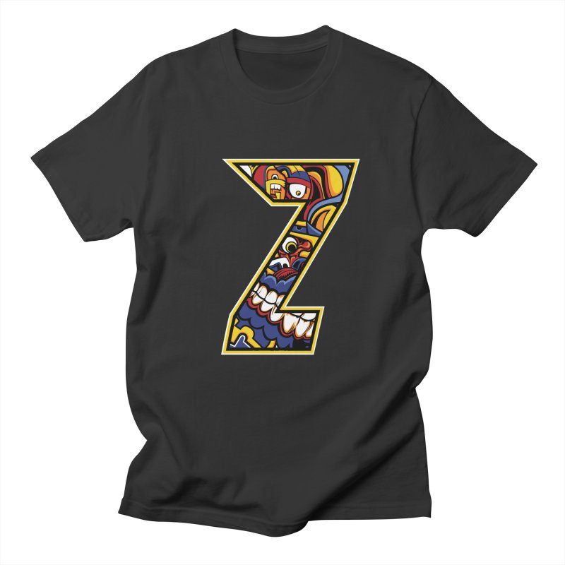 Crazy Face_Z004 Men's Regular T-Shirt by Art of Yaky Artist Shop