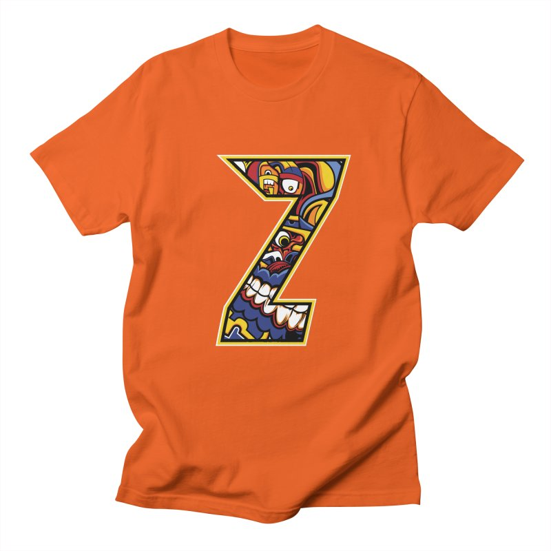 Crazy Face_Z004 Women's Regular Unisex T-Shirt by Art of Yaky Artist Shop