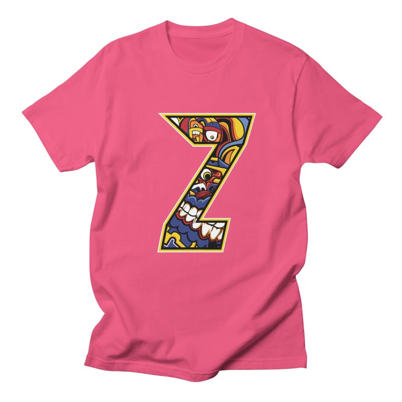 Crazy Face_Z004 Men's T-Shirt by Art of Yaky Artist Shop