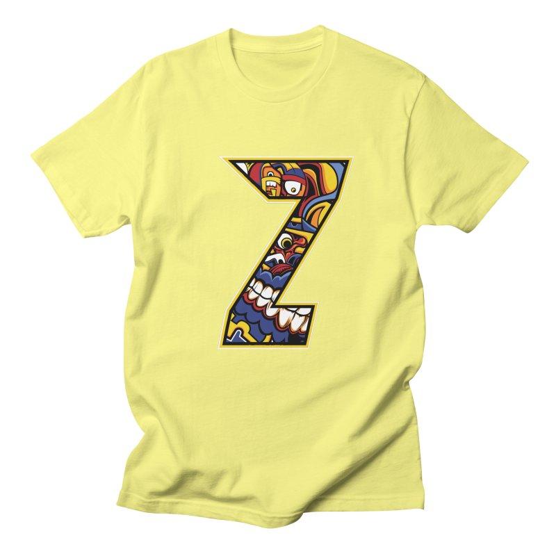Crazy Face_Z004 Men's Regular T-Shirt by Art of Yaky Artist Shop