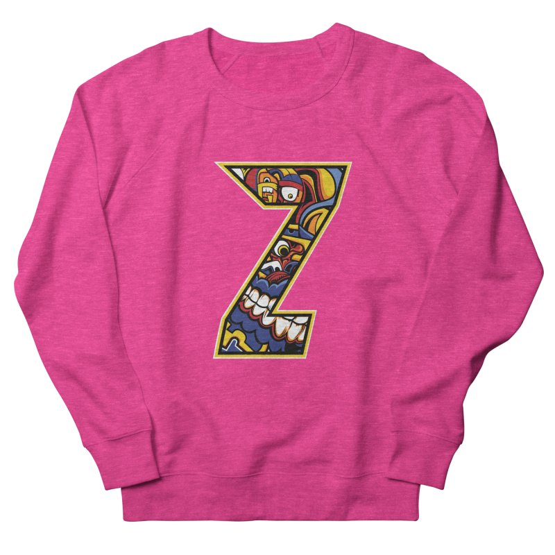 Crazy Face_Z004 Women's French Terry Sweatshirt by Art of Yaky Artist Shop