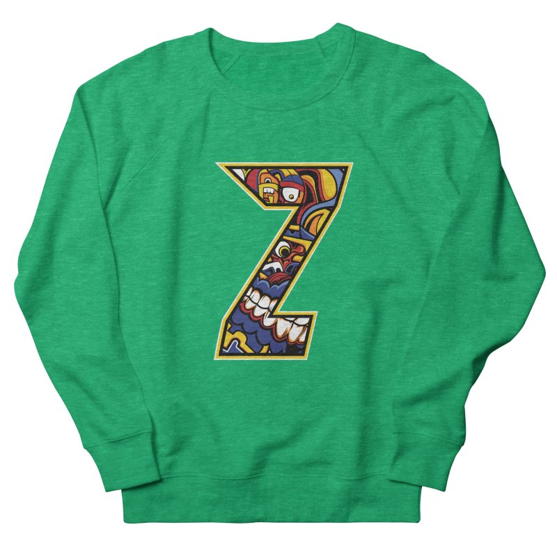 Crazy Face_Z004 Men's French Terry Sweatshirt by Art of Yaky Artist Shop