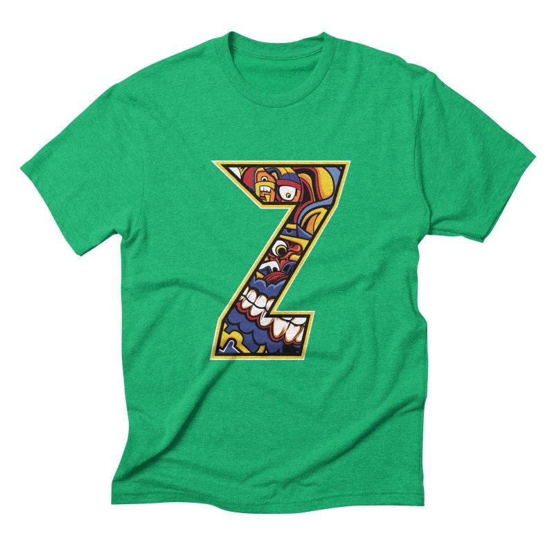 Crazy Face_Z004 Men's Triblend T-Shirt by Art of Yaky Artist Shop