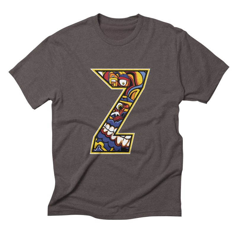 Crazy Face_Z004 Men's Triblend T-Shirt by Art of Yaky Artist Shop