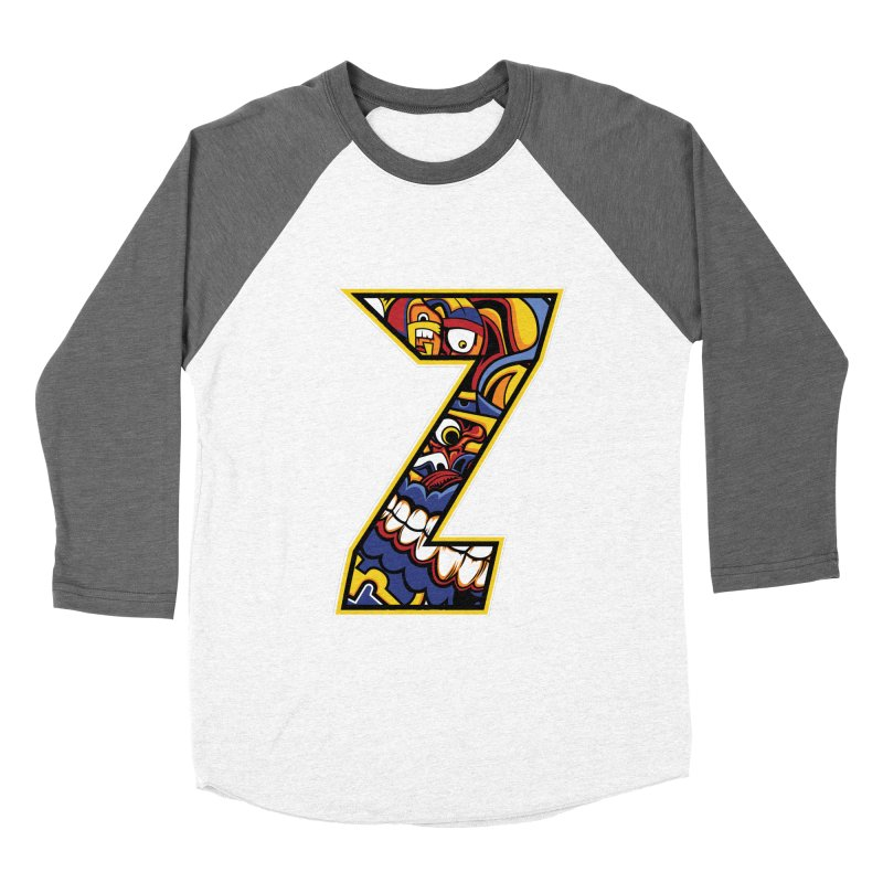 Crazy Face_Z004 Women's Longsleeve T-Shirt by Art of Yaky Artist Shop