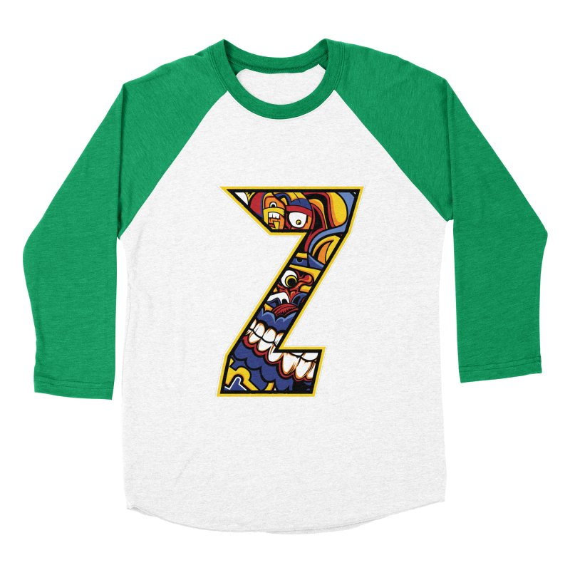 Crazy Face_Z004 Women's Baseball Triblend Longsleeve T-Shirt by Art of Yaky Artist Shop