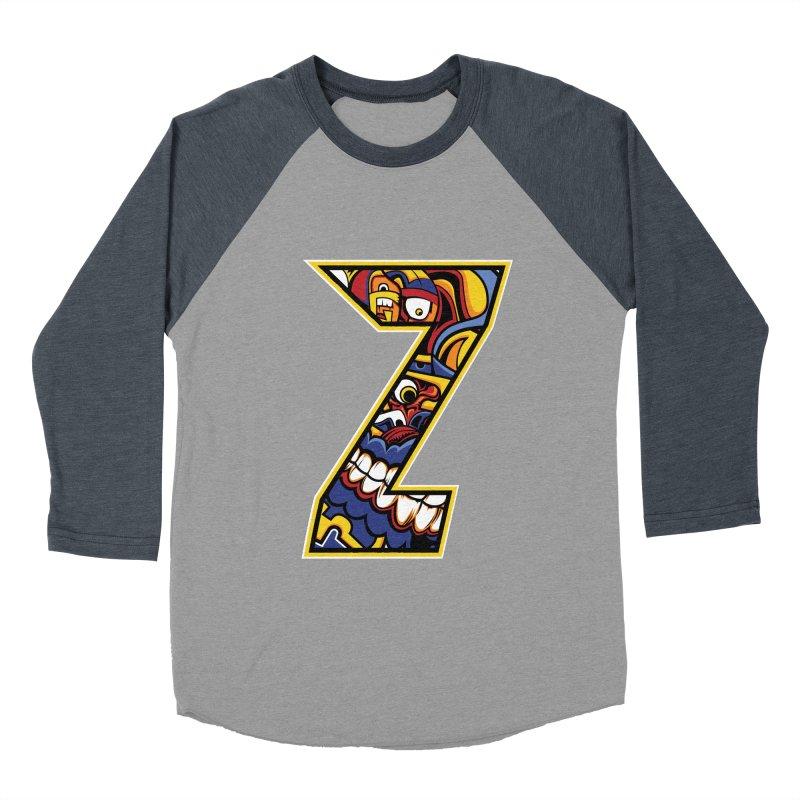 Crazy Face_Z004 Women's Baseball Triblend Longsleeve T-Shirt by Art of Yaky Artist Shop