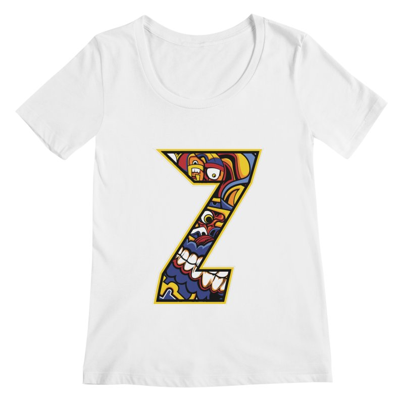Crazy Face_Z004 Women's Regular Scoop Neck by Art of Yaky Artist Shop