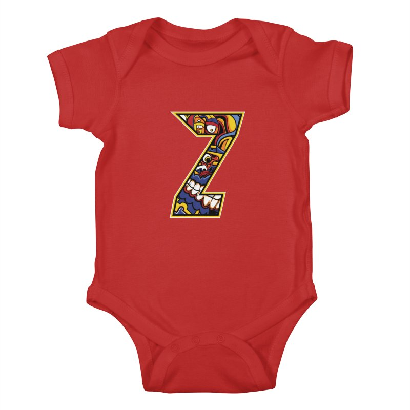 Crazy Face_Z004 Kids Baby Bodysuit by Art of Yaky Artist Shop