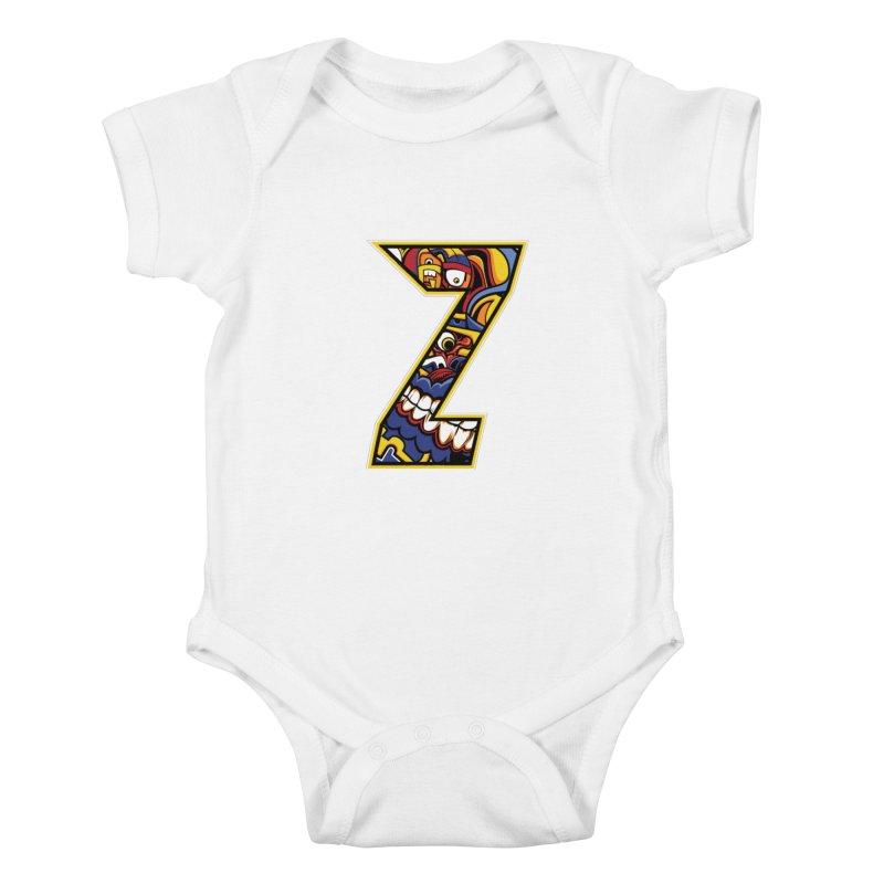 Crazy Face_Z004 Kids Baby Bodysuit by Art of Yaky Artist Shop