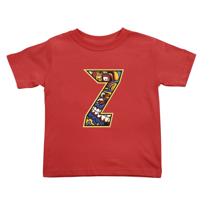 Crazy Face_Z004 Kids Toddler T-Shirt by Art of Yaky Artist Shop