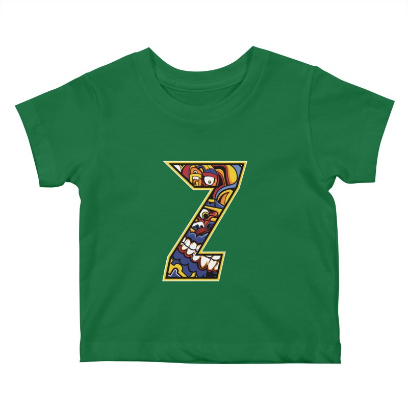 Crazy Face Aplphabet (Z) Kids Baby T-Shirt by Yaky's Customs