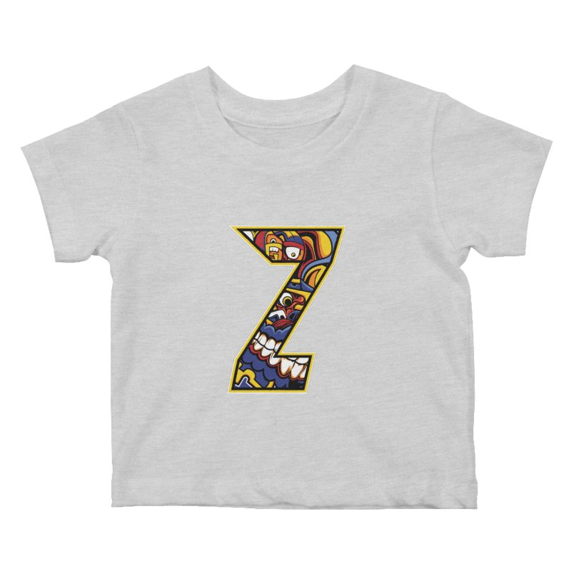 Crazy Face_Z004 Kids Baby T-Shirt by Art of Yaky Artist Shop