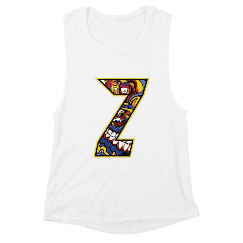 Crazy Face_Z004 Women's Muscle Tank by Art of Yaky Artist Shop