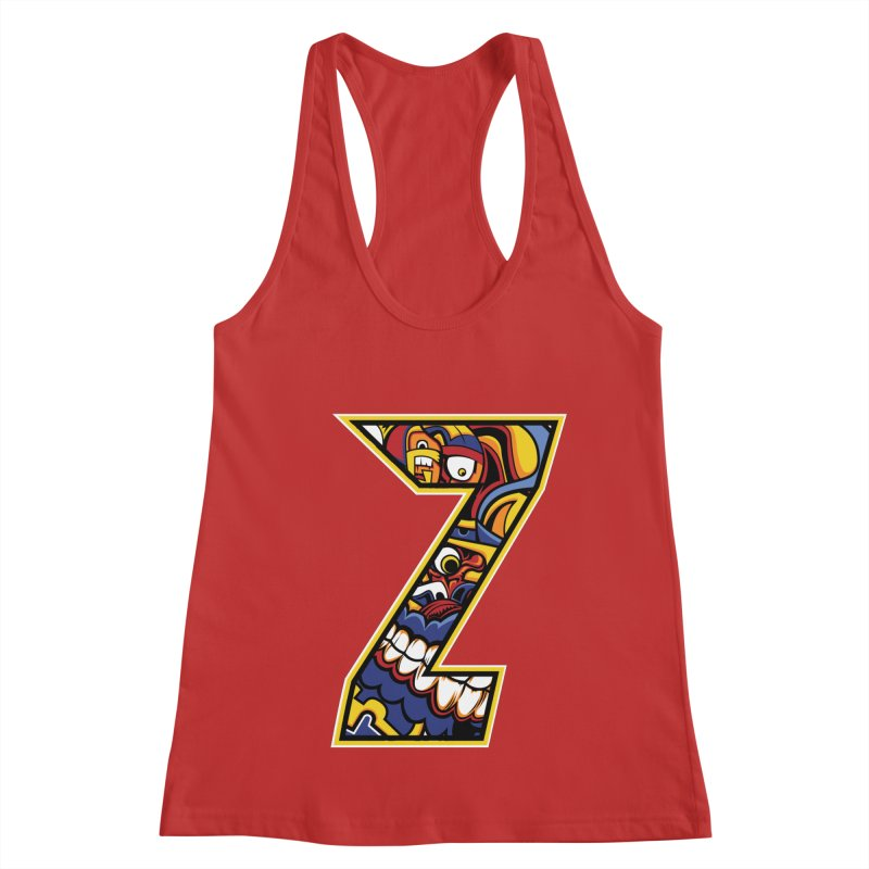 Crazy Face_Z004 Women's Tank by Art of Yaky Artist Shop