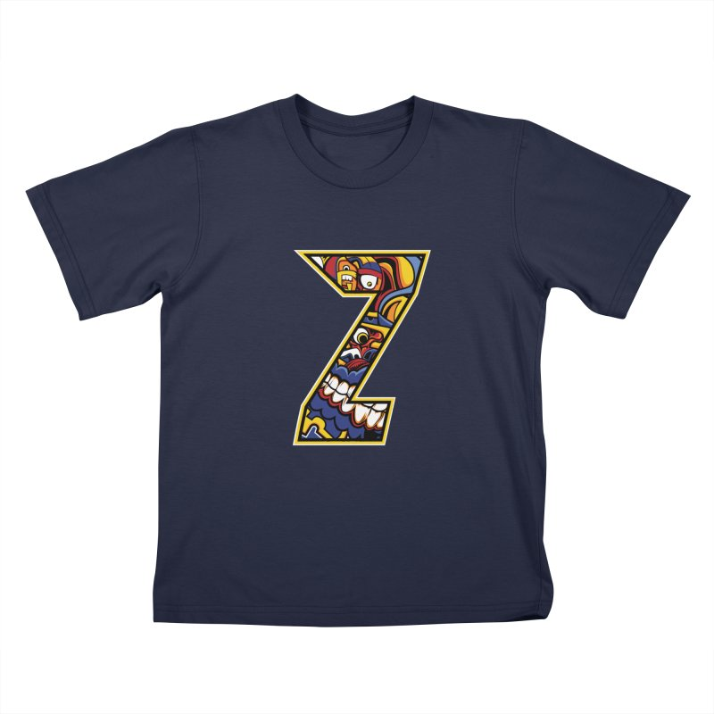 Crazy Face_Z004 Kids T-Shirt by Art of Yaky Artist Shop