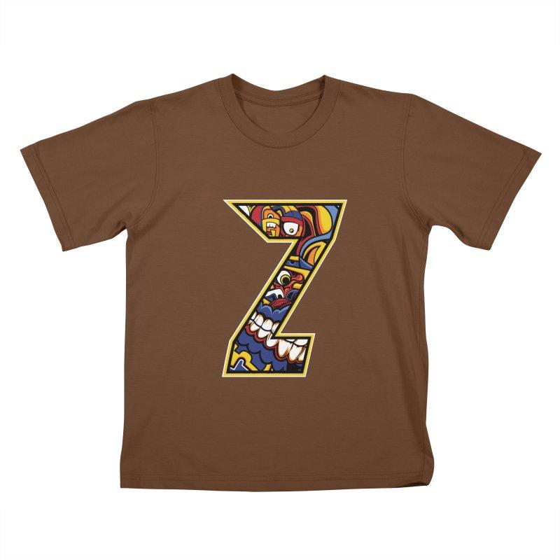 Crazy Face_Z004 Kids T-Shirt by Art of Yaky Artist Shop