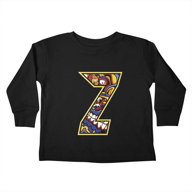 Crazy Face Aplphabet (Z) Kids Toddler Longsleeve T-Shirt by Yaky's Customs