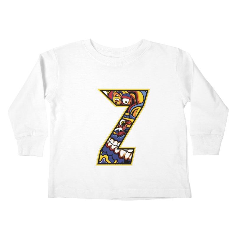 Crazy Face_Z004 Kids Toddler Longsleeve T-Shirt by Art of Yaky Artist Shop