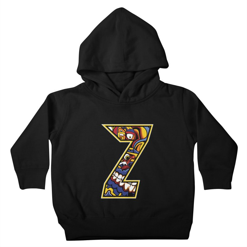 Crazy Face_Z004 Kids Toddler Pullover Hoody by Art of Yaky Artist Shop
