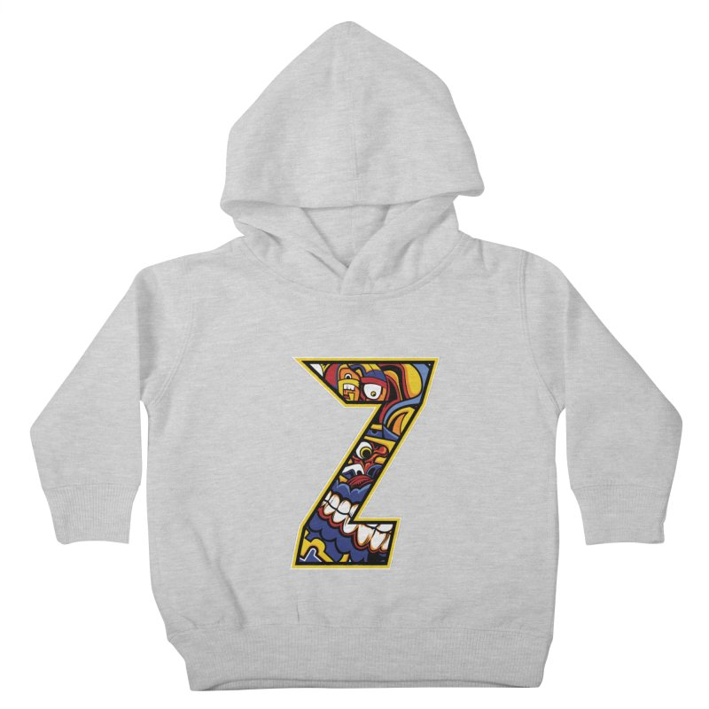 Crazy Face Aplphabet (Z) Kids Toddler Pullover Hoody by Yaky's Customs
