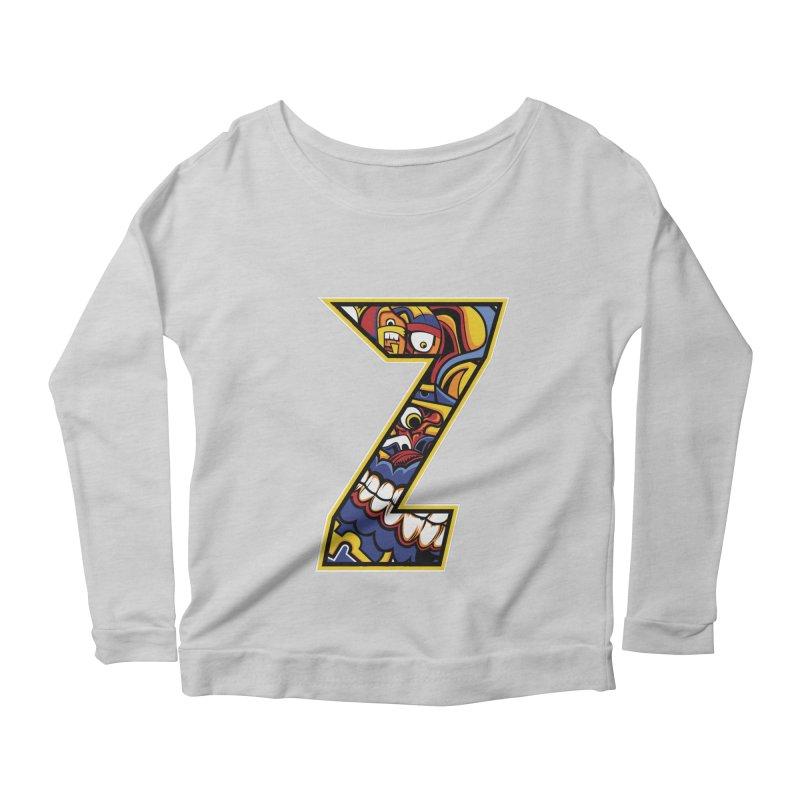 Crazy Face_Z004 Women's Scoop Neck Longsleeve T-Shirt by Art of Yaky Artist Shop