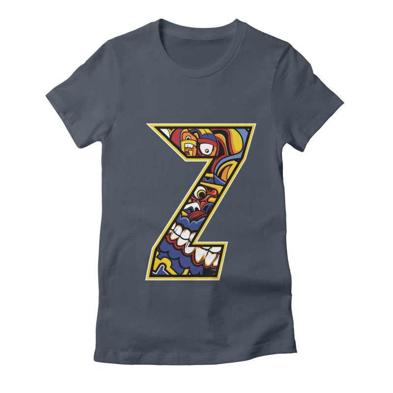 Crazy Face Aplphabet (Z) Women's T-Shirt by Yaky's Customs