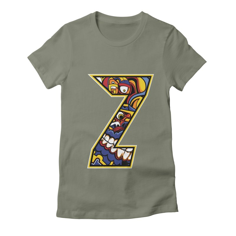 Crazy Face_Z004 Women's T-Shirt by Art of Yaky Artist Shop