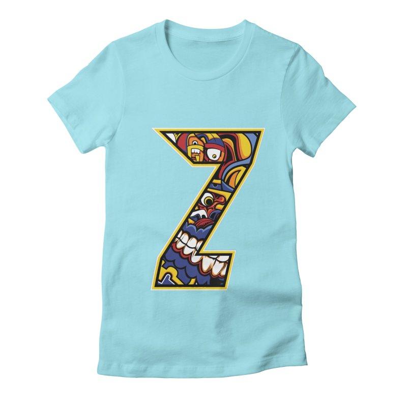 Crazy Face_Z004 Women's T-Shirt by Art of Yaky Artist Shop