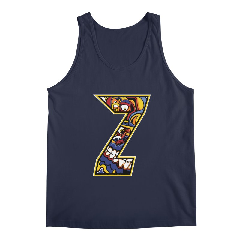 Crazy Face_Z004 Men's Regular Tank by Art of Yaky Artist Shop