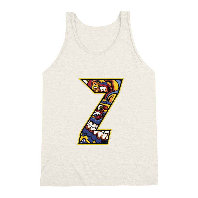Crazy Face_Z004 Men's Triblend Tank by Art of Yaky Artist Shop