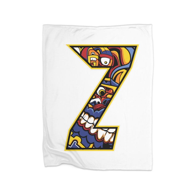 Crazy Face Aplphabet (Z) Home Blanket by Yaky's Customs