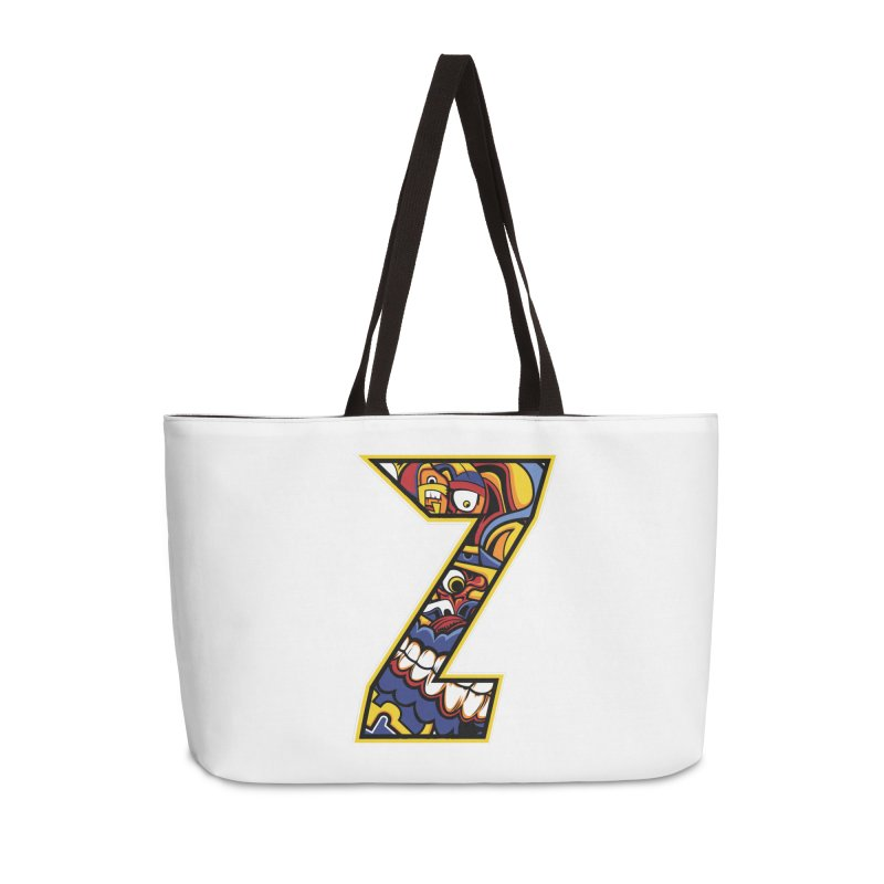 Crazy Face_Z004 Accessories Weekender Bag Bag by Art of Yaky Artist Shop