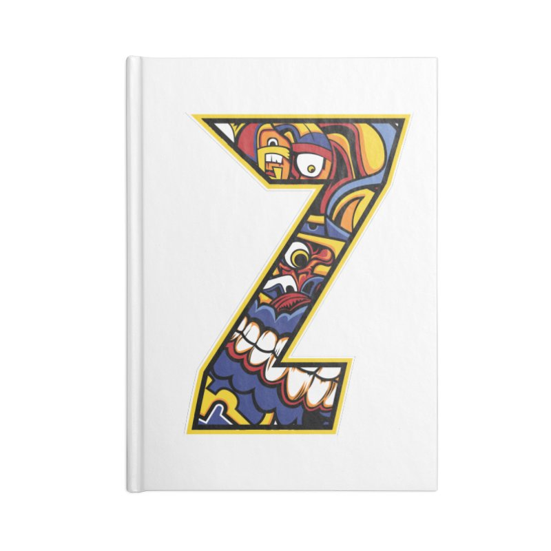 Crazy Face_Z004 Accessories Lined Journal Notebook by Art of Yaky Artist Shop