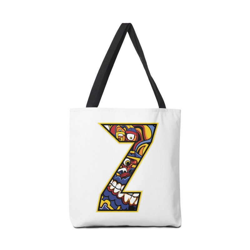 Crazy Face_Z004 Accessories Tote Bag Bag by Art of Yaky Artist Shop